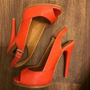 peep toe heels with adjustable straps